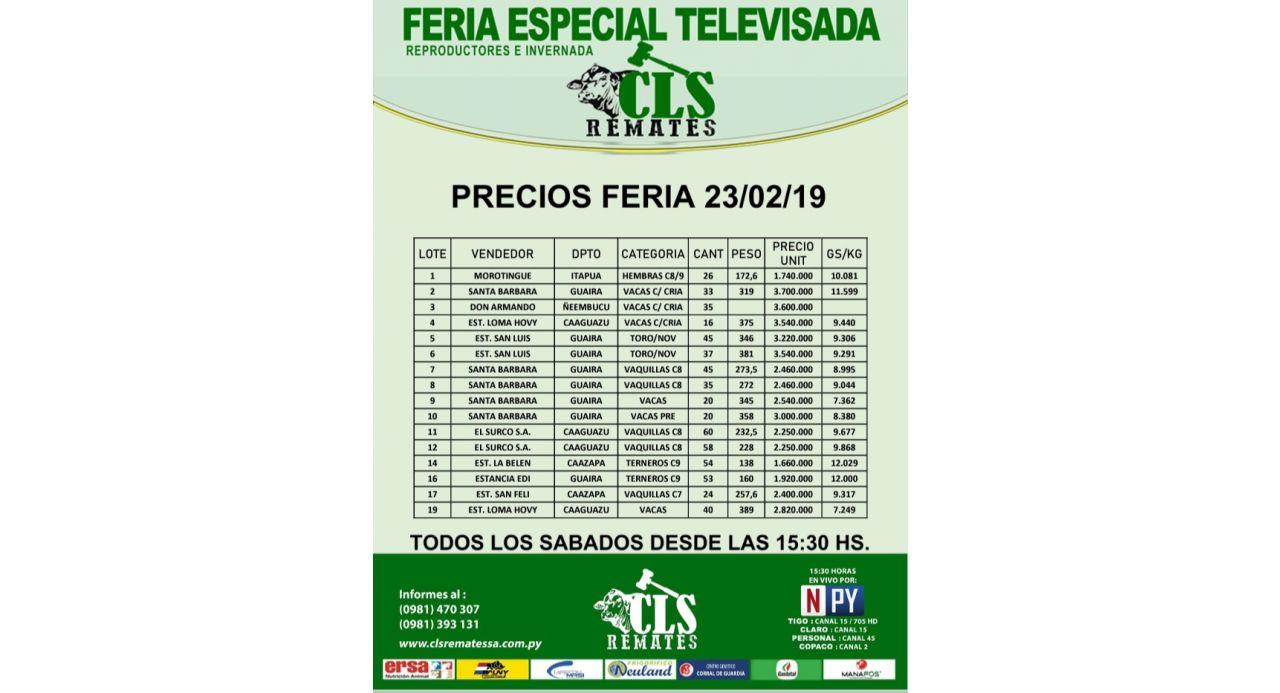 Precios Feria 23/02/2019