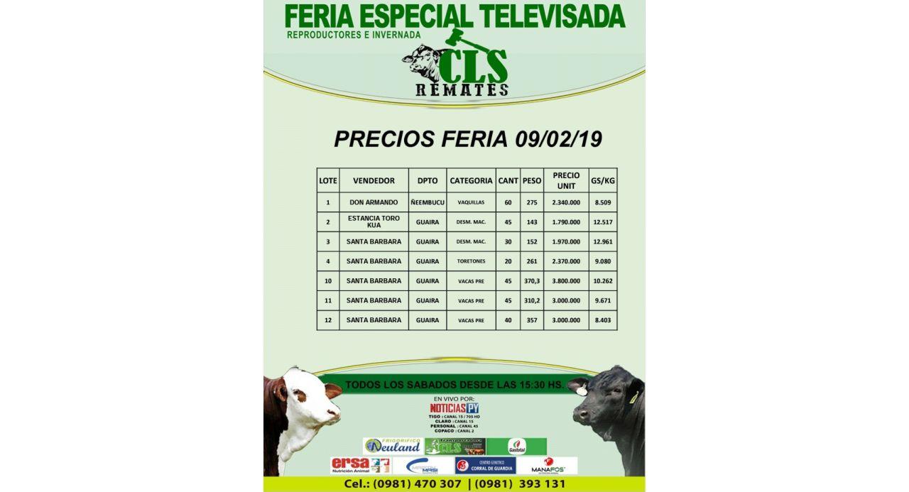 Precios Feria 09/02/2019