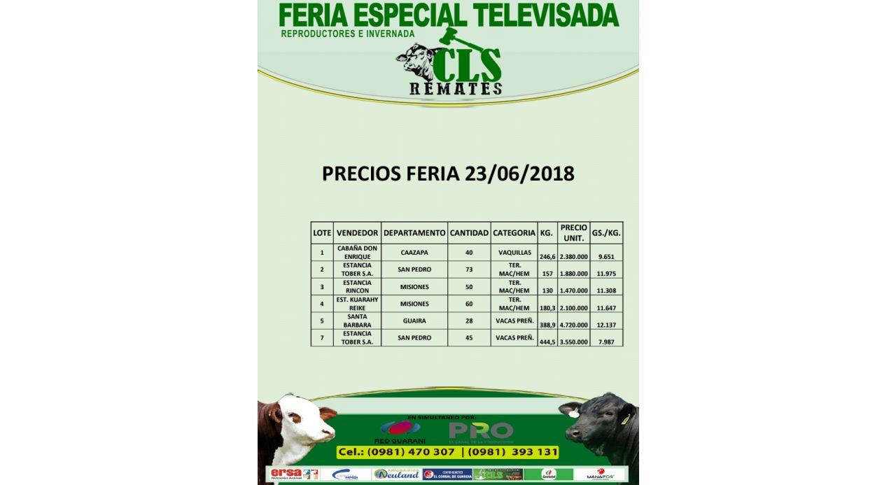 Precios Feria 23/06/2018