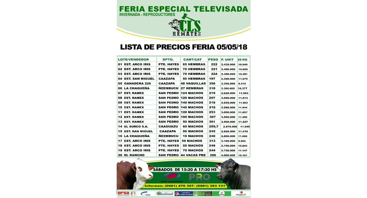 Feria Televisada 05/05/2018