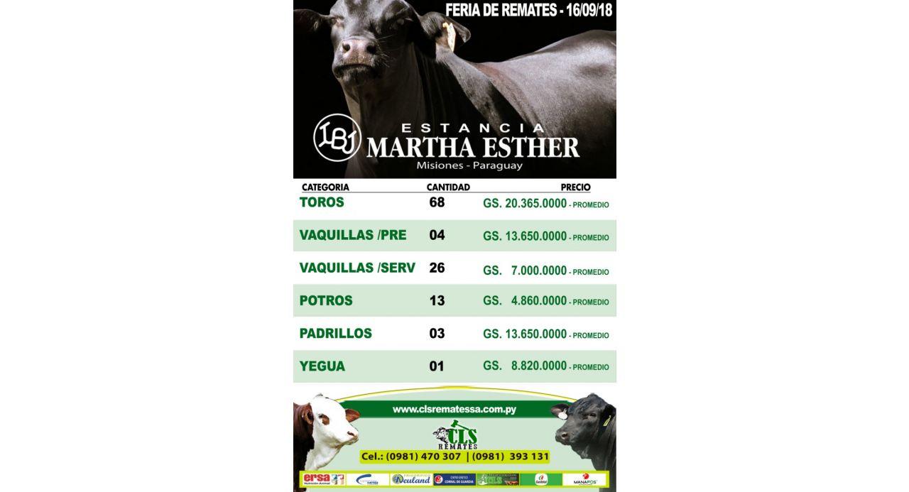 Precios Feria Martha Esther