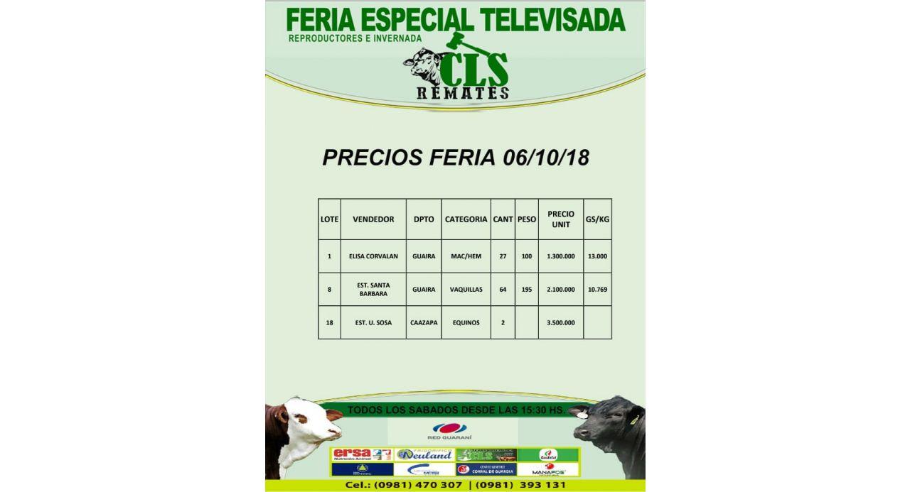 Precios Feria 06/10/2018