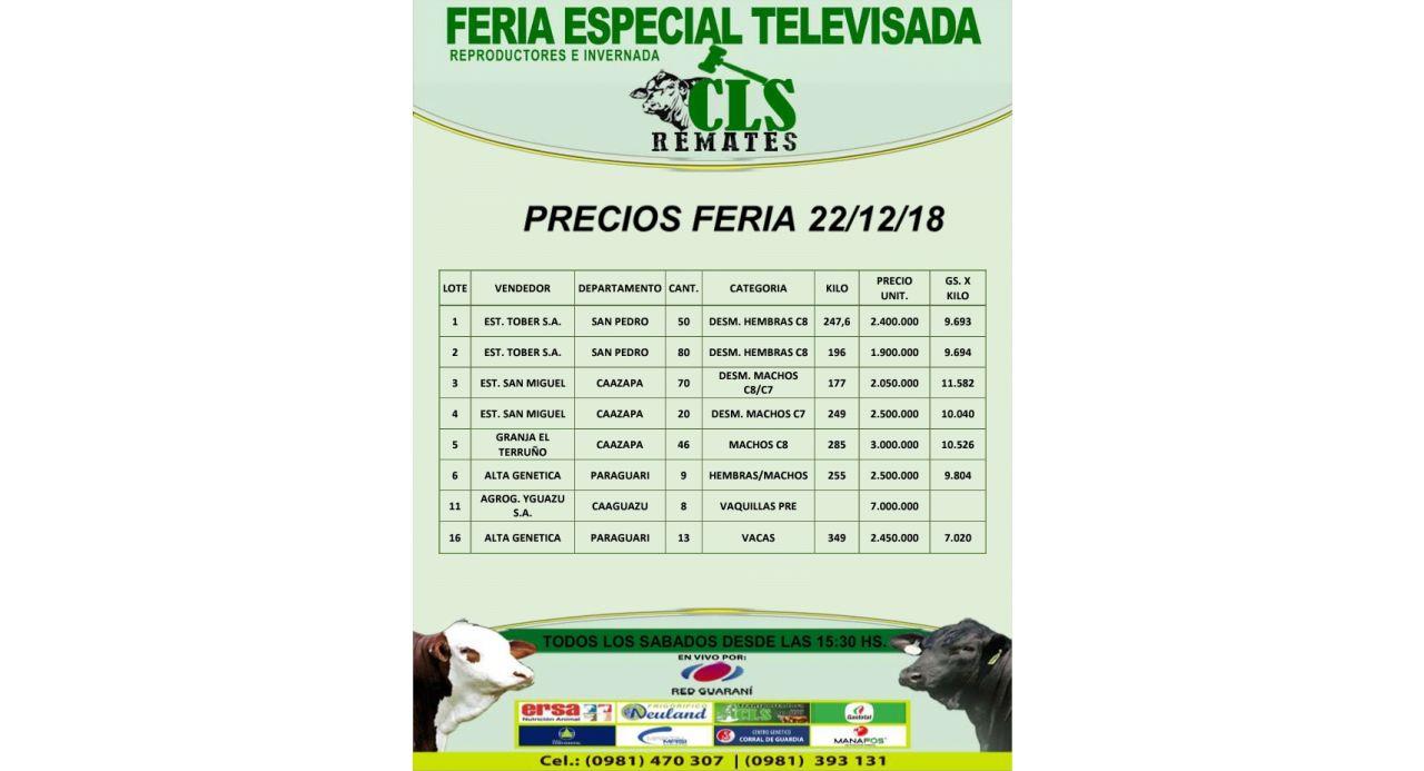 Precios Feria 22/12/2018