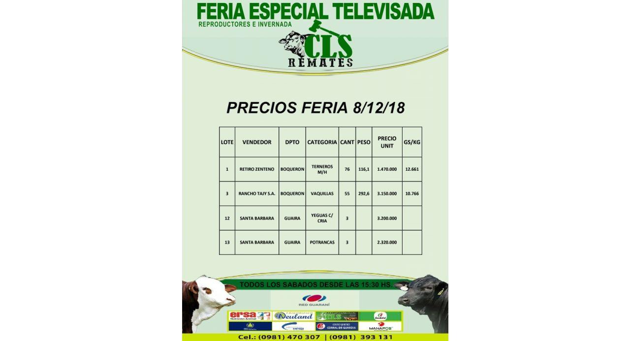 Precios Feria 8/12/2018