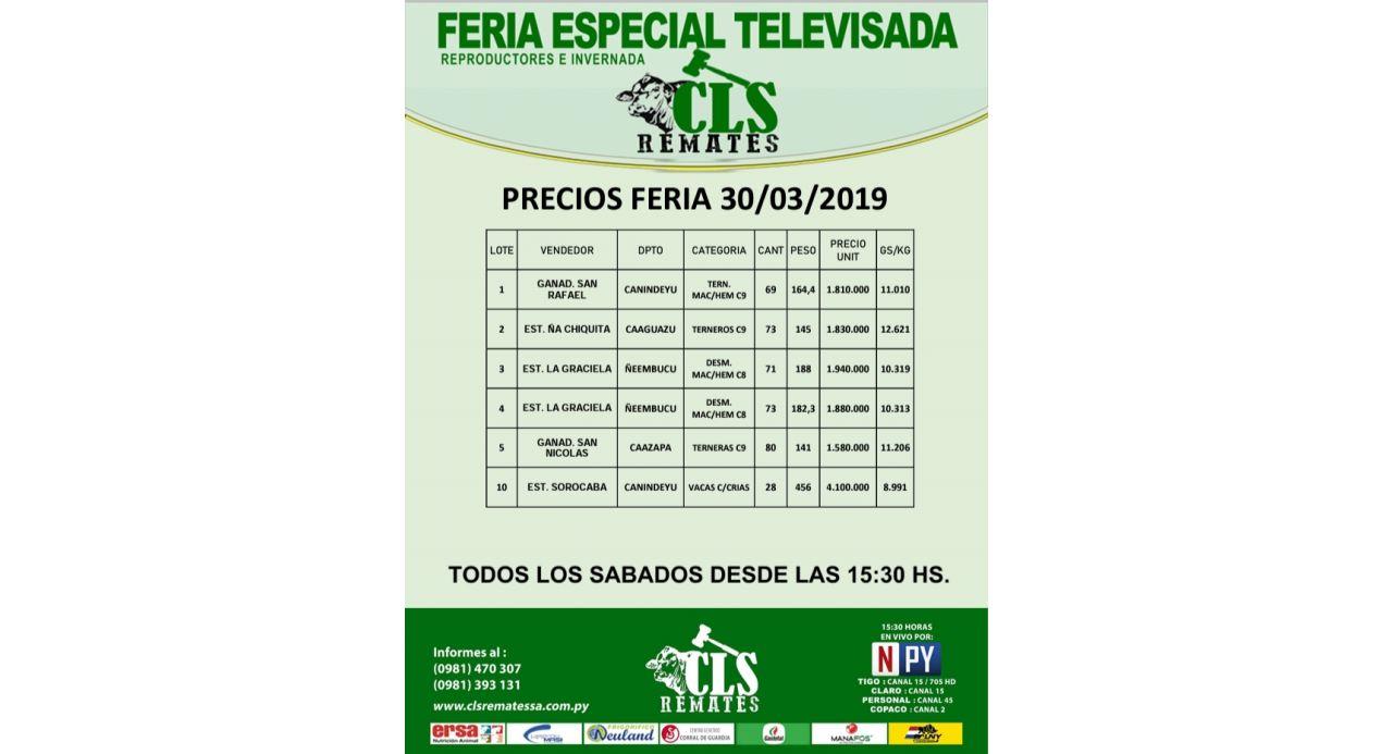 Precios Feria 30/03/2019