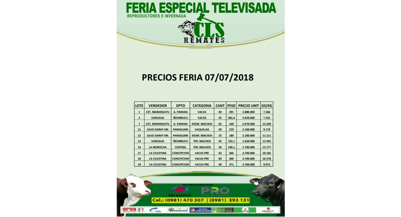 Precios Feria 07/07/2018
