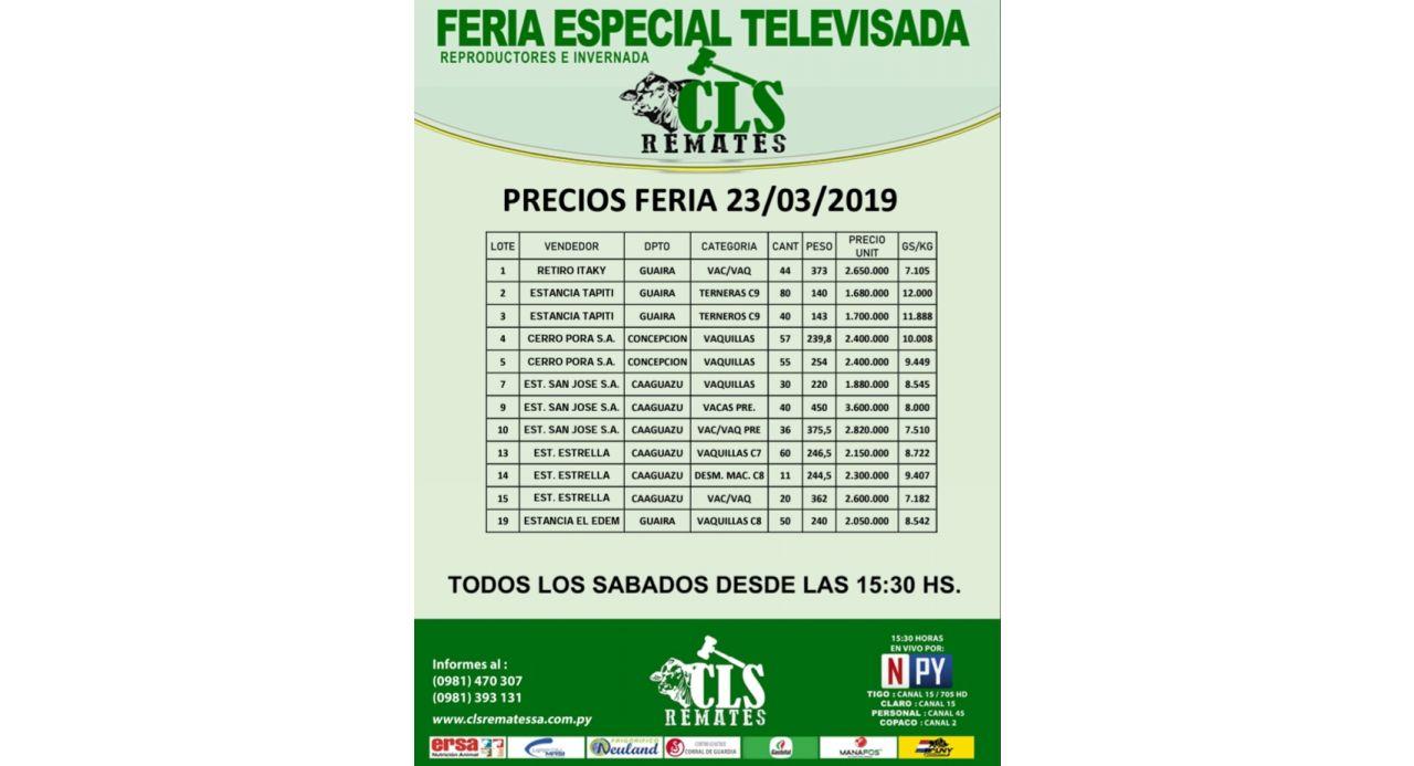 Precios Feria 23/03/2019