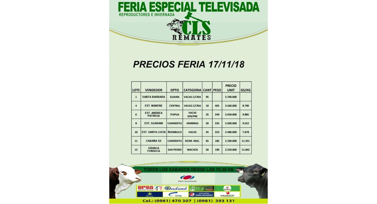 Precios Feria 17/11/2018