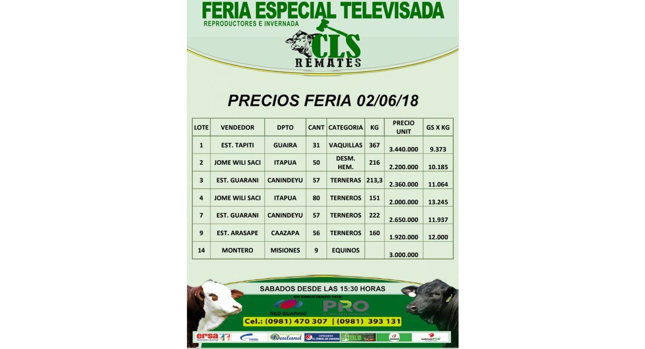 Feria Televisada 2/06/2018