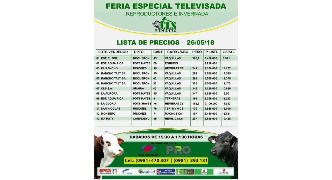 Feria Televisada 26-05-2018