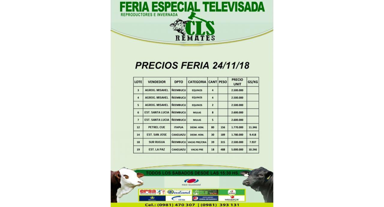 Precios Feria 24/11/2018