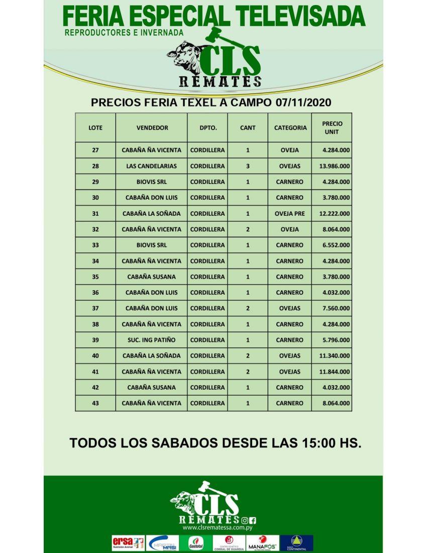 PRECIO FERIA 7/11/2020