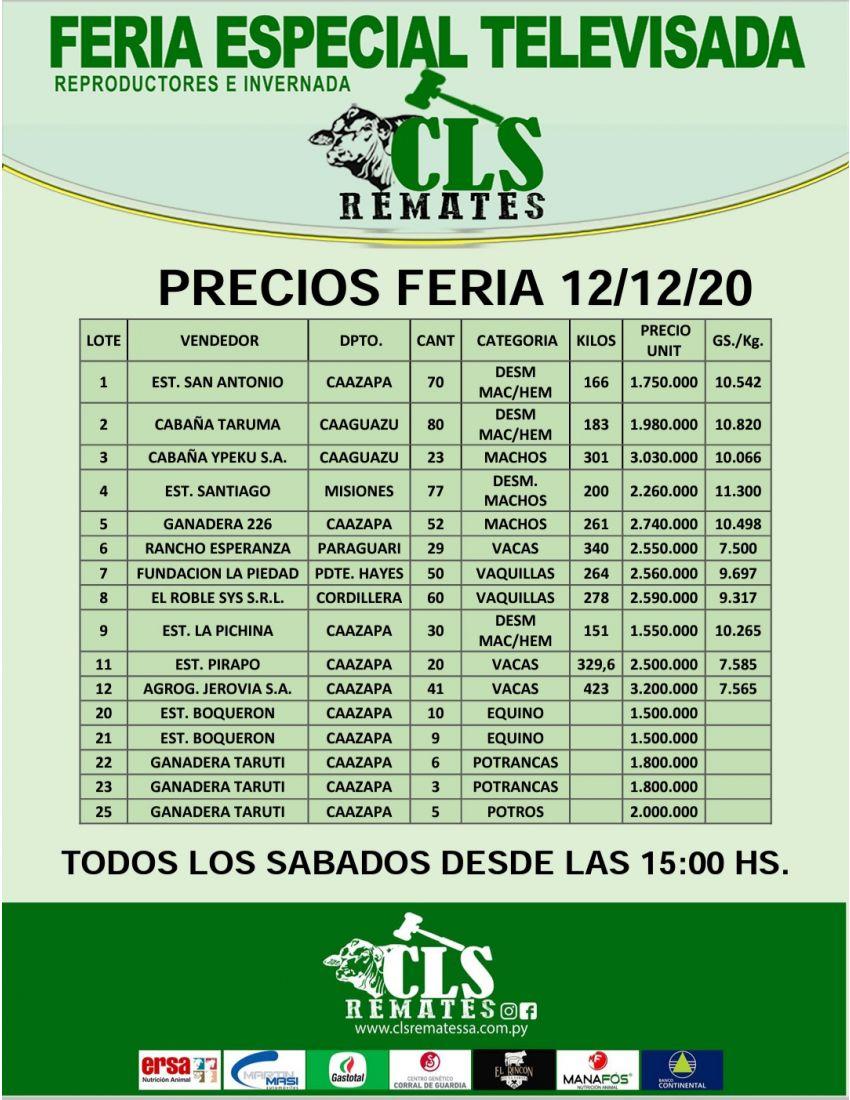 Precios Feria 12/12/2020