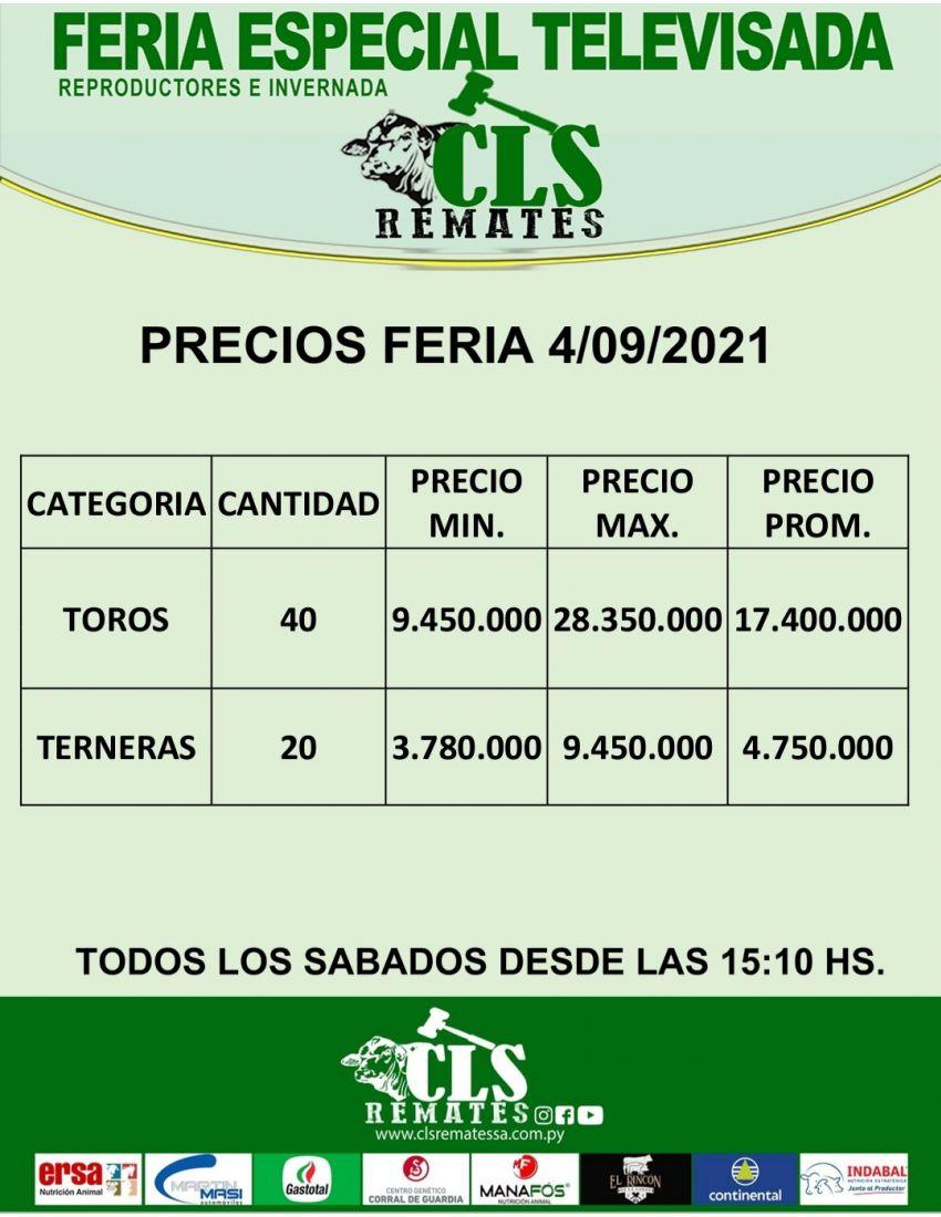 Precios Feria 4/09/2021