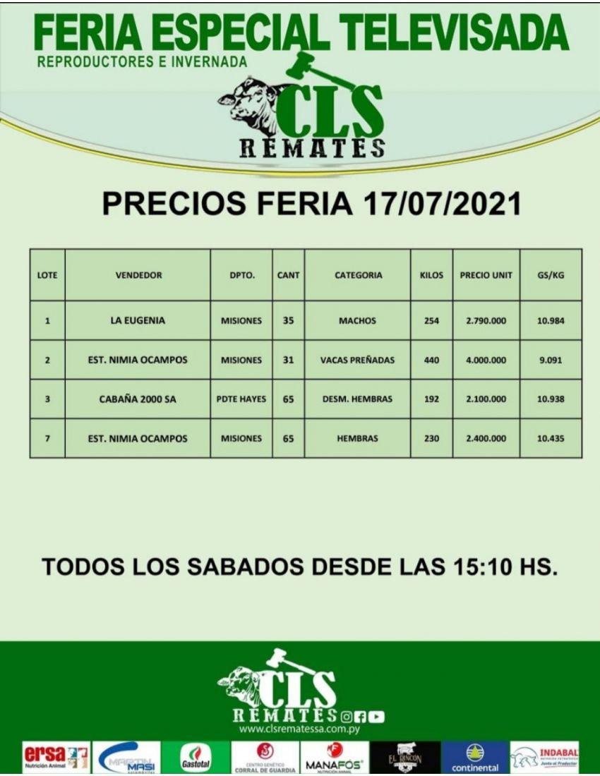 Precios Feria 17/07/2021
