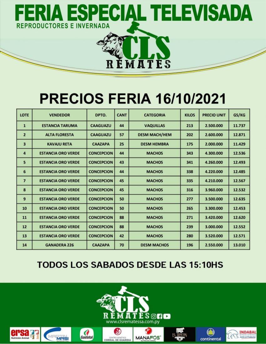 Precios Feria 16/10/2021