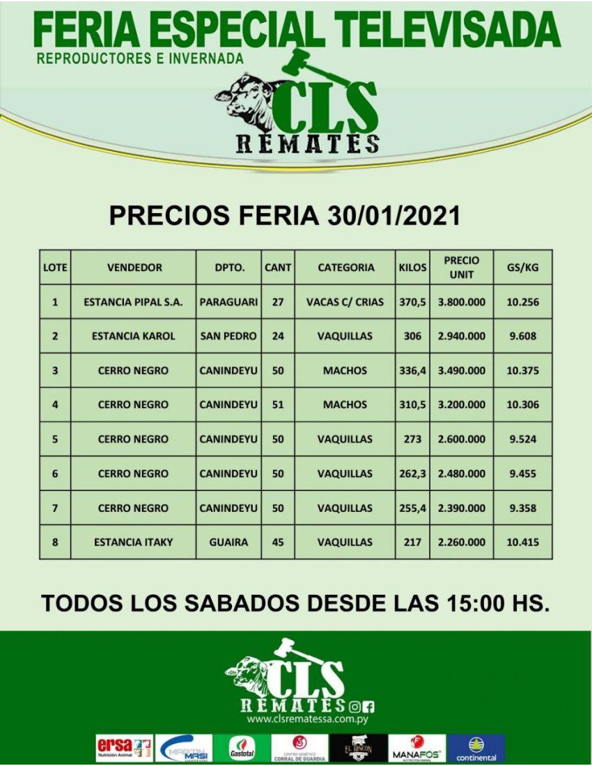 Precios Feria 30/01/2021